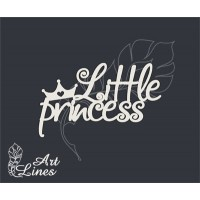 Чипборд надпись Little princess